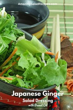 If you are looking for a tasty Japanese style salad dressing recipe, the following might pique your interest. Featuring lemon juice, ginger, onion, peanut oil, garlic and more