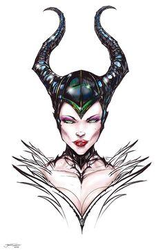 Maleficent by Jamie Tyndall