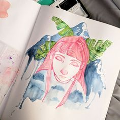 Wow I disappeared for a bit there! I've been doing a TON of painting but it's for a show so I don't want to share it all quite yet. How is this week? I did this quick sketch yesterday and even though it's wonky I do love the colors... . . #art #sketch #sketchbook #girl #nature #gallery #galleryshow #artsy #artistsoninstagram #artoftheday #color #paint #painting #arte #mountain
