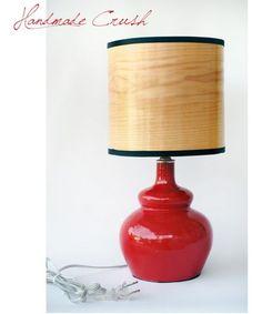 Handmade Crush: Cherry Red Handmade Lamp (Ronda Ruby Ceramics)