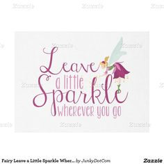 Fairy Leave a Little Sparkle Wherever You Go Fleece Blanket - Nov 11