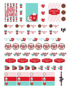 /planner/.PICKETT: FREE Peppermint Bliss Planner Sticker Printable