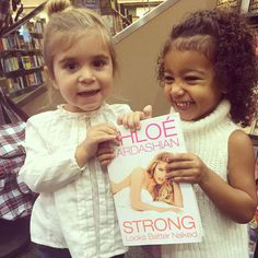 North West and Penelope Disick Are All Smiles Holding Aunt Khloe Kardashian's Book  North West, Penelope Disick, Khloe Kardashian