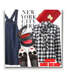 """Gingham style!"" by karolinaneverkarolcia ❤ liked on Polyvore featuring Valentino, RED Valentino, Alice + Olivia and Topshop"