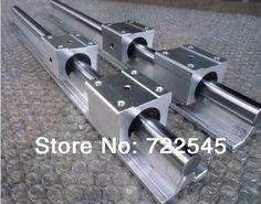 116.00$  Watch now - http://ali2de.worldwells.pw/go.php?t=32698311861 - Linear Rail Set Diameter 16 mm 2xSBR16 Length 1000 mm + 4xSBR16UU Block For CNC Parts Set 116.00$