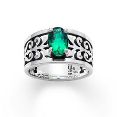 Adoree Ring with Emerald: James Avery