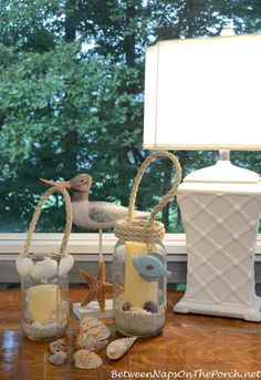 DIY Candle Lanterns by  Between Naps on the Porch