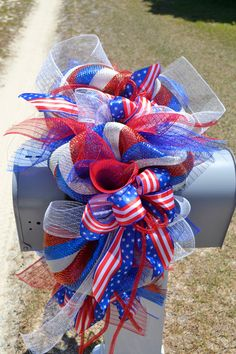 Mailbox SwagJuly 4th Mailbox SwagMailbox by Motherdaughterflowe1, $55.00