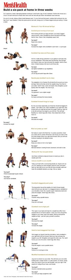 #MensHealth Dumbbell workout for a six-pack in three weeks