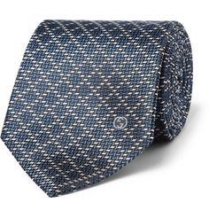 Gucci Patterned Woven-Silk Tie | MR PORTER