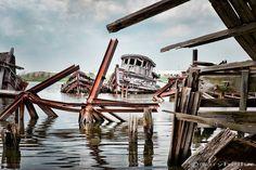 ship graveyard in Staten Island, New York