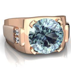 14K Gold Mens Diamond Ring 268ct