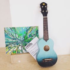 Ombre Handpainting Painting Ombre Decoration Diy Ukelele