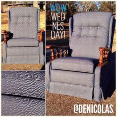 Rocker's New Clothes!  Custom upholstery and refinish.