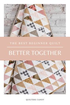 This is the best quilt pattern for beginning quilters.  It comes with a video tutorial and is written for new quilters. Beginner Quilt Patterns, Quilting For Beginners, Quilting Tutorials, Quilting Patterns, Quilting Ideas, Quilting Projects, Scrappy Quilts, Easy Quilts, Hand Quilting