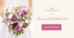 Create your very own #bridal #site has never been easier w/ GetMarried.Co. 30-day #free trial! http://getmarried.co/