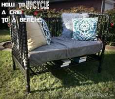 Upcycled Crib to a Bench: