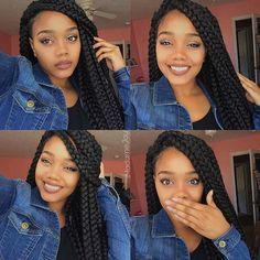 25 Crochet Box Braids Hairstyles for Black Women Crochet Jumbo Box Braids Box Braids Hairstyles For Black Women, Kids Braided Hairstyles, Crochet Braids Hairstyles, Braids For Black Women, Braids For Black Hair, Latest Hairstyles, Single Braids Hairstyles, Baddie Hairstyles, Blonde Hairstyles