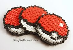 Pokemon Perler - Pokeballs by MelodyMaid.deviantart.com on @DeviantArt