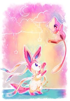 Sylveon y Mew Wallpaper Pokemon Phone Background Pikachu, Pokemon Mew, Pokemon Pins, Pokemon Fan Art, Pokemon Super, Pokemon Manga, Play Pokemon, Pokemon Stuff, Chibi Kawaii