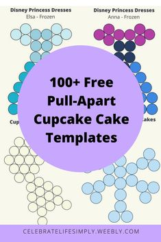 Over 100 Pull-Apart Cupcake Cake Templates | Disney's Frozen