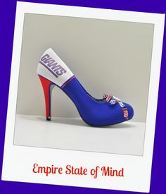 """New York Giants heel """"Empire State of Mind"""""""
