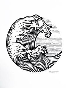 Picture result for line art of smooth sea old school tattoo - # old . Picture result for line Pixel Tattoo, Trendy Tattoos, New Tattoos, Water Tattoos, Tatoos, Surf Kunst, Nautique Vintage, Surf Tattoo, Tattoo Wave