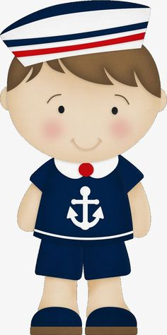 Cartoon boy wearing a sailor suit PNG and Clipart