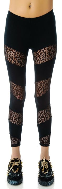 Lip Service Don't Let the Cat Out Of The Bag Chevron Leggings | Dolls Kill