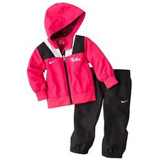 baby girl nike sweatsuit...sooo cute!
