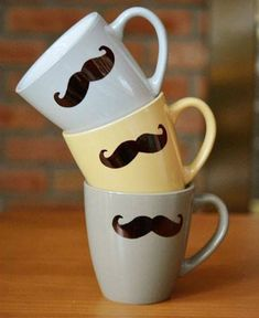 Create these mustache mugs using Sharpie craft. Simple and easy to make mugs for gifting near and dear ones.