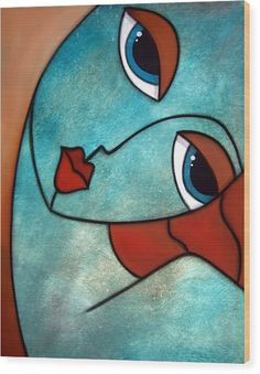 Illustrate - Original Abstract Portrait :Large Modern Art Painting by Fidostudio Would love to replicate this in stain glass Abstract Face Art, Abstract Portrait, Painting Abstract, Cubism Art, Modern Art Paintings, Art Lessons, Pop Art, Art Drawings, Canvas Art