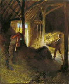 In the Barn by George Clausen