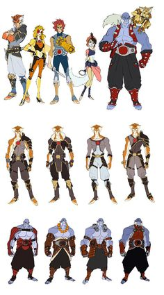 sketches of Thundercats characters and designs | Thundercats-1 || CHARACTER DESIGN REFERENCES | キャラクター ...