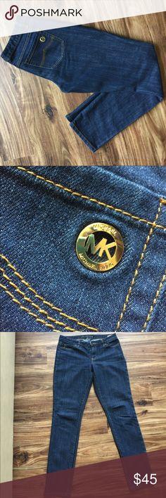 Michael Kors Dark Skinny Jeans Dark colored Michael Kors skinny jeans. Perfect condition wore a few times. Slight stretch to them. Very cute jeans! Michael Kors Jeans Skinny