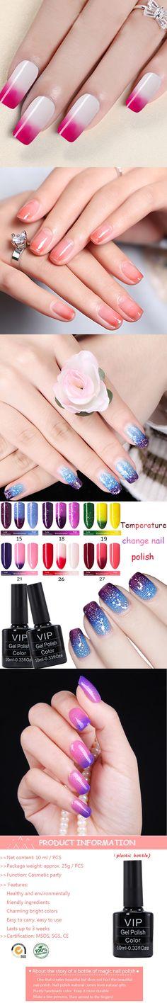 MDSKL Gel Nail Polish Chameleon Temperature Change Color Gel Lacquer Long-lasting UV Gel Nail Temperature Changing Color 10ML
