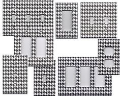 houndstooth outlet & switch covers (can make myself, of course)
