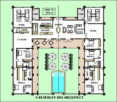 H-SHAPED HOUSE PLANS WITH POOL IN THE MIDDLE Pg3 | Courtyard single storey