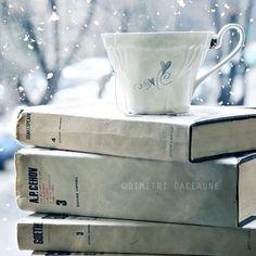 winter. Pile Of Books, Tea And Books, I Love Books, Good Books, I Love Winter, Winter Day, Winter Is Coming, Winter Magic, Cozy Winter