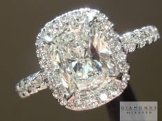 Cushion cut diamond engagement ring. Now that's what I call an engagement ring!