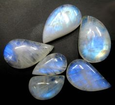 Fine Quality Blue Flashy Rainbow Moonstone by finegemstone on Etsy, $30.00