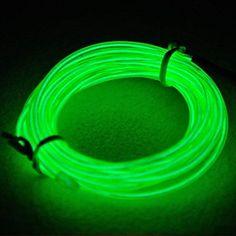 TopYart Neon LED Light Glow EL Wire Battery Pack String S...