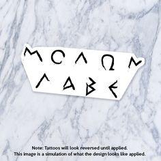 Molon Labe ΜΟΛΩΝ ΛΑΒΕ μολὼν λαβέ Greek Leonidas 300 Tattoo by Tatzarazzi