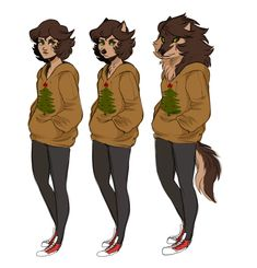 thought i'd doodle up some of Violet's phases bc christmas werewolves Magical Creatures, Fantasy Creatures, Character Concept, Character Art, Werewolf Girl, Creature Drawings, Furry Drawing, Art Reference Poses, Dragon Art