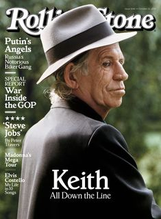 Keith Richards on the October 22, 2015 cover