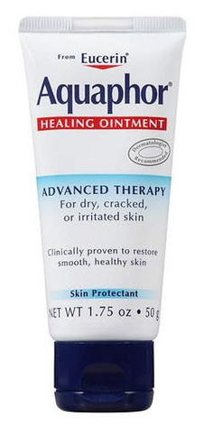 """Aquaphor Healing Ointment Advanced Therapy: """"This is a secret of mine, but I'll share it with you…I sometimes use a pea size amount of Aquaphor on dry hair by rubbing it across my palms and fingers, and then dusting the tips of the hair with my hands.It's great for smoothing those irritating little frizzes caused by hair breakage.""""—Rob Talty, Los Angeles celebrity hairstylist whose clients include Katy Perry and Rooney Mara"""