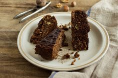 Zielenina: Śniadaniowe ciasto z orzechami - wegańskie, bezglutenowe i naturalnie słodzone :-)