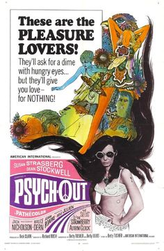 Directed by Richard Rush. With Susan Strasberg, Dean Stockwell, Jack Nicholson, Bruce Dern. A deaf runaway arrives in San Francisco's Haight-Ashbury hippie district looking for her missing brother. Jack Nicholson, Susan Strasberg, Dean Stockwell, Jack Bruce, Thing 1, Online Posters, Cultura Pop, Vintage Movies, San Francisco