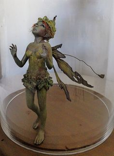 OOAK Art Doll Sculpture Fairy - Captured Wood Sprite