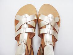 Theia Sandals / Knee High Gladiator Stripe Sandals / by Twininas